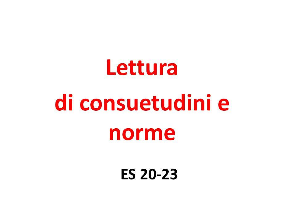 ES 20-23 Lettura di consuetudini e norme