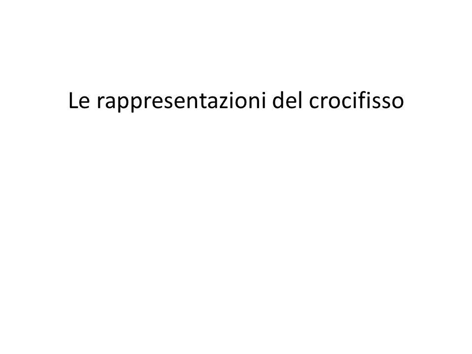 Le rappresentazioni del crocifisso