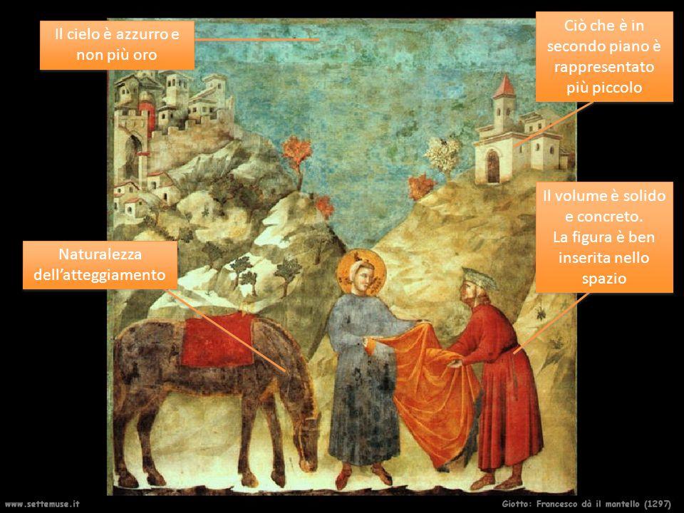 In Giotto gli sguardi assumono una fortissima carica espressiva