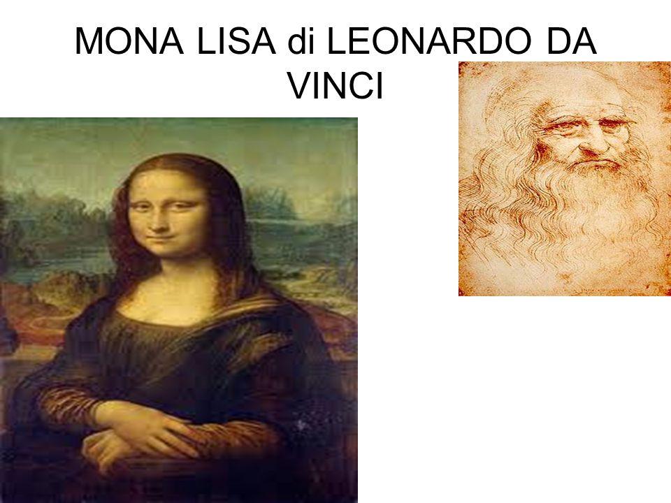 MONA LISA di LEONARDO DA VINCI