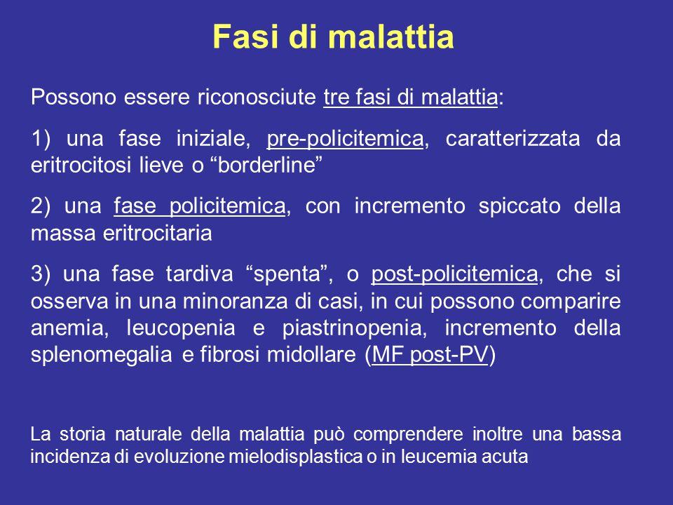 MASSA ERITROCITARIA AUMENTATAMASSA ERITROCITARIA AUMENTATA (> 36 ml/kg nell'uomo e > 32 ml/Kg nella donna).