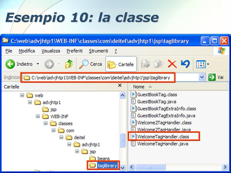 6 Dicembre 2005Stefano Clemente103 Esempio 10: la classe
