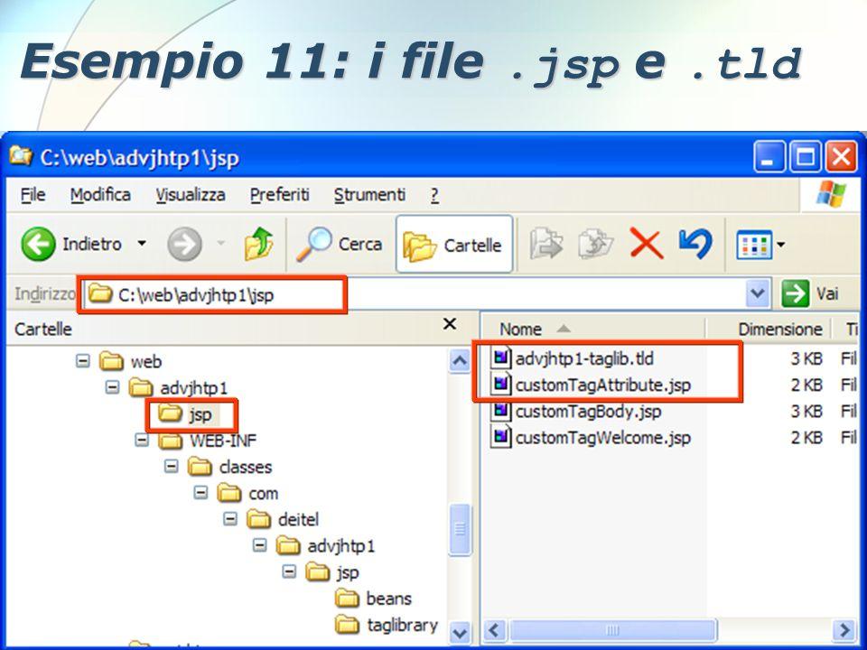 6 Dicembre 2005Stefano Clemente111 Esempio 11: i file.jsp e.tld