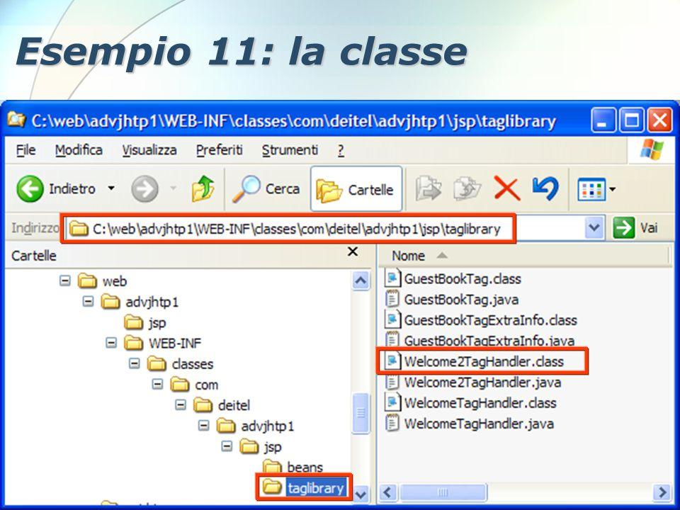 6 Dicembre 2005Stefano Clemente112 Esempio 11: la classe