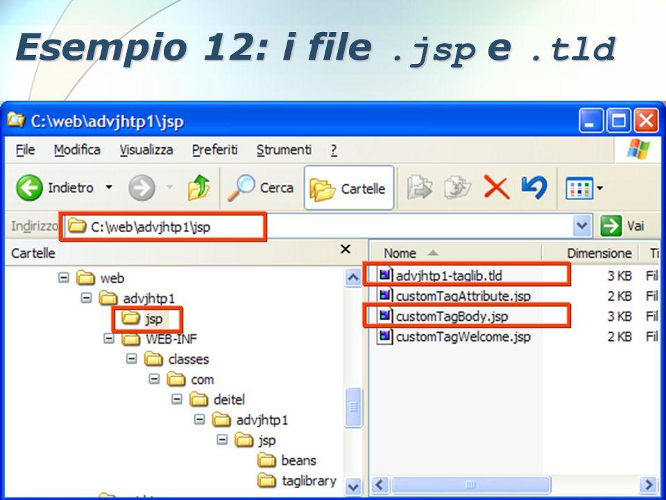 6 Dicembre 2005Stefano Clemente127 Esempio 12: i file.jsp e.tld