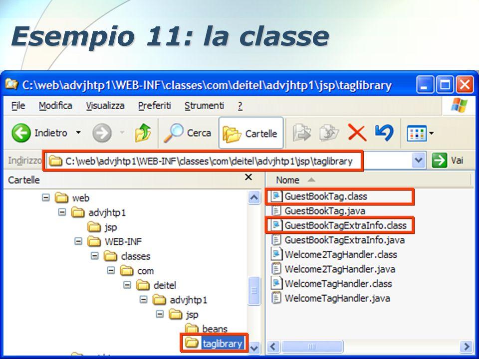 6 Dicembre 2005Stefano Clemente128 Esempio 11: la classe