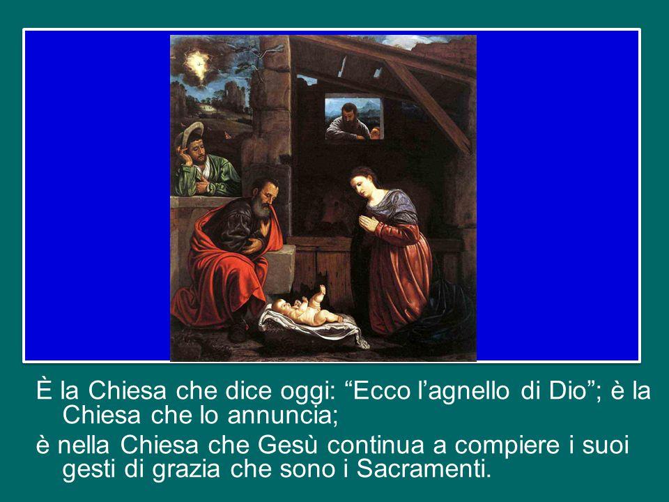 Infatti è proprio la Chiesa, la grande famiglia di Dio, che ci porta Cristo.