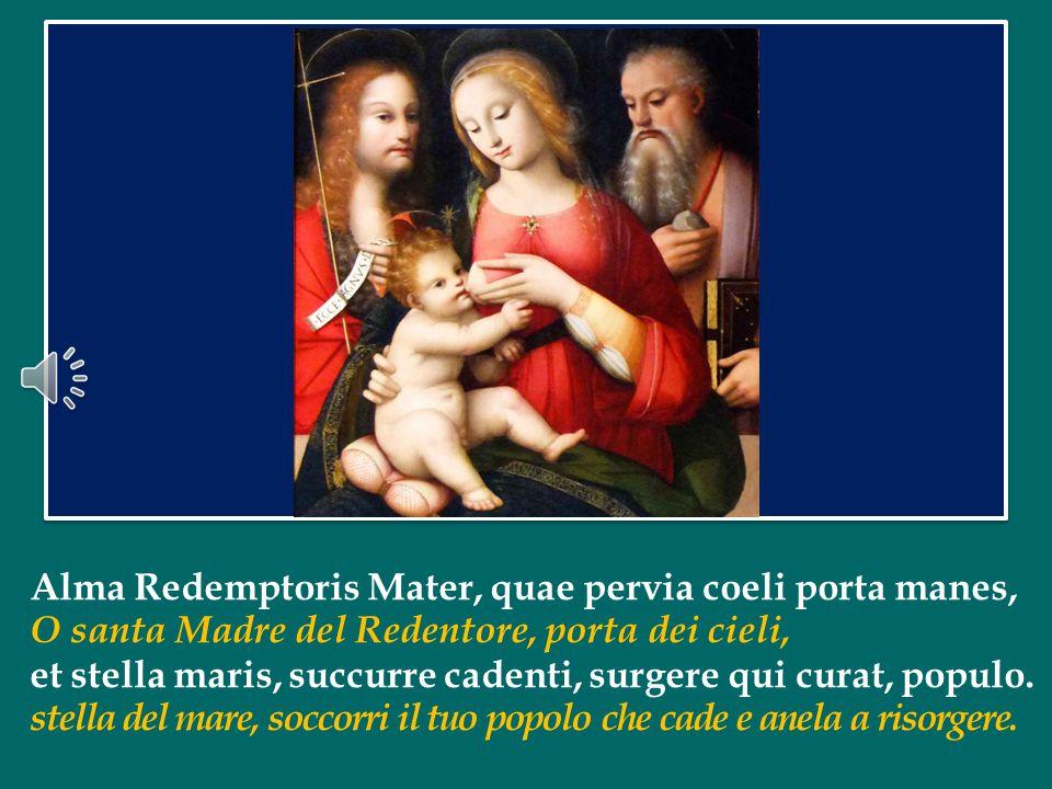Invito tutti voi, senza bastoni, ad alzarvi e per tre volte salutarla, in piedi, con questo saluto della primitiva Chiesa: Santa Madre di Dio! .