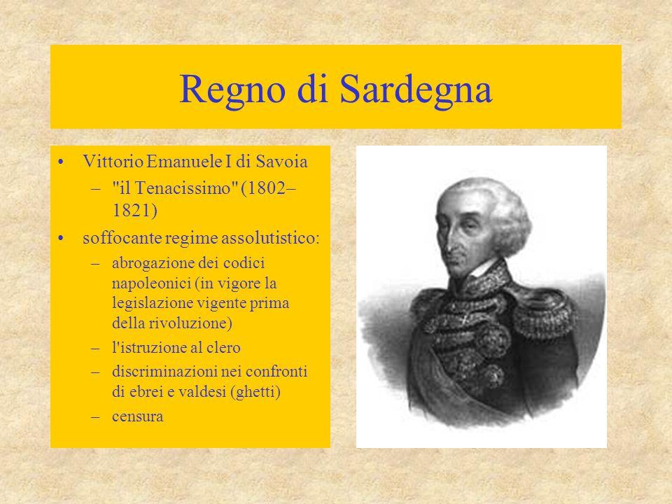 Regno di Sardegna Vittorio Emanuele I di Savoia –