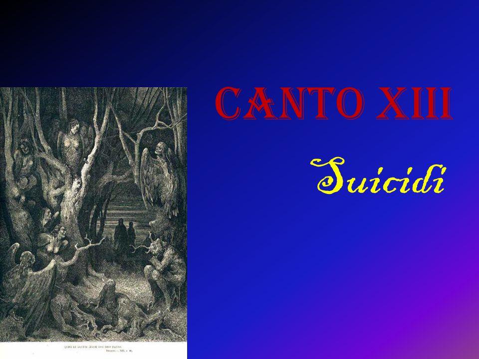 Canto XIII Suicidi