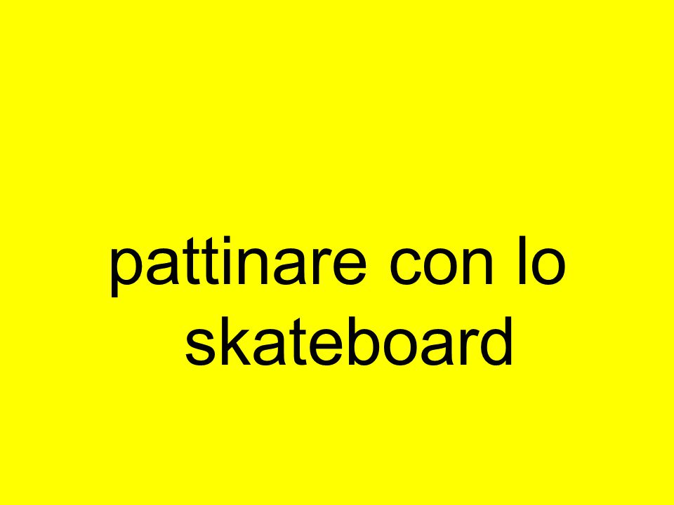pattinare con lo skateboard