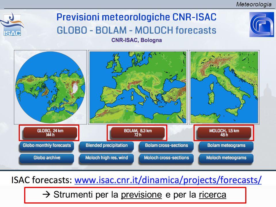 Meteorologia  Strumenti per la previsione e per la ricerca