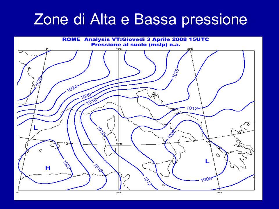 16 Zone di Alta e Bassa pressione