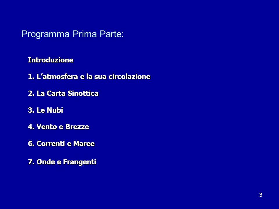 3 Programma Prima Parte: Introduzione 1.L'atmosfera e la sua circolazione 2.