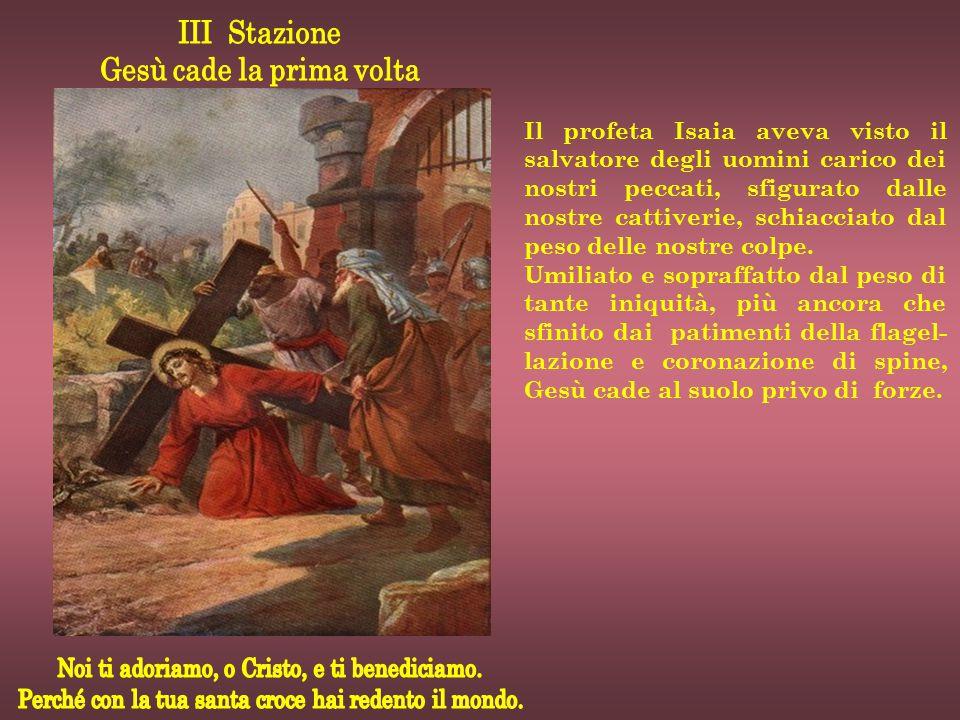 Il profeta Isaia aveva visto il salvatore degli uomini carico dei nostri peccati, sfigurato dalle nostre cattiverie, schiacciato dal peso delle nostre