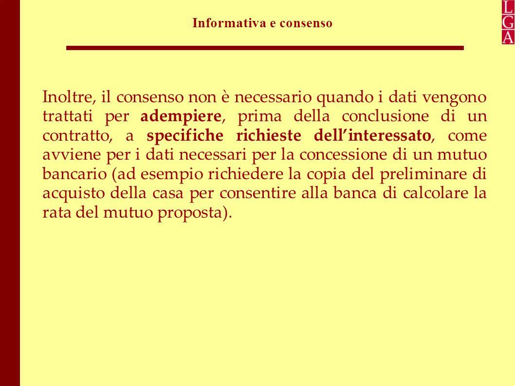 Informativa e consenso Cosa accade nel caso di informativa e soprattutto di acquisizione del consenso via internet.