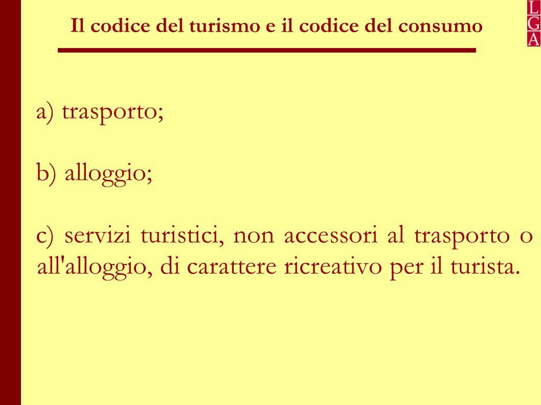 Il codice del turismo e il codice del consumo Il codice del consumo (D.
