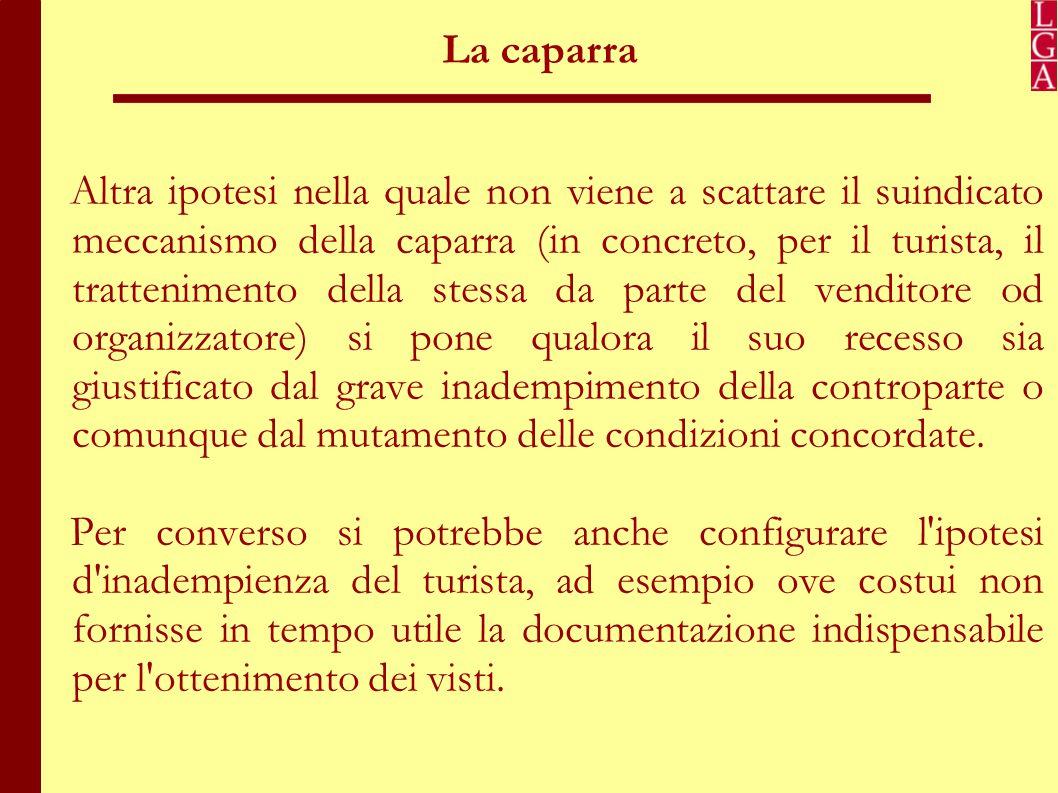 La penale Il Codice del Turismo all'art.