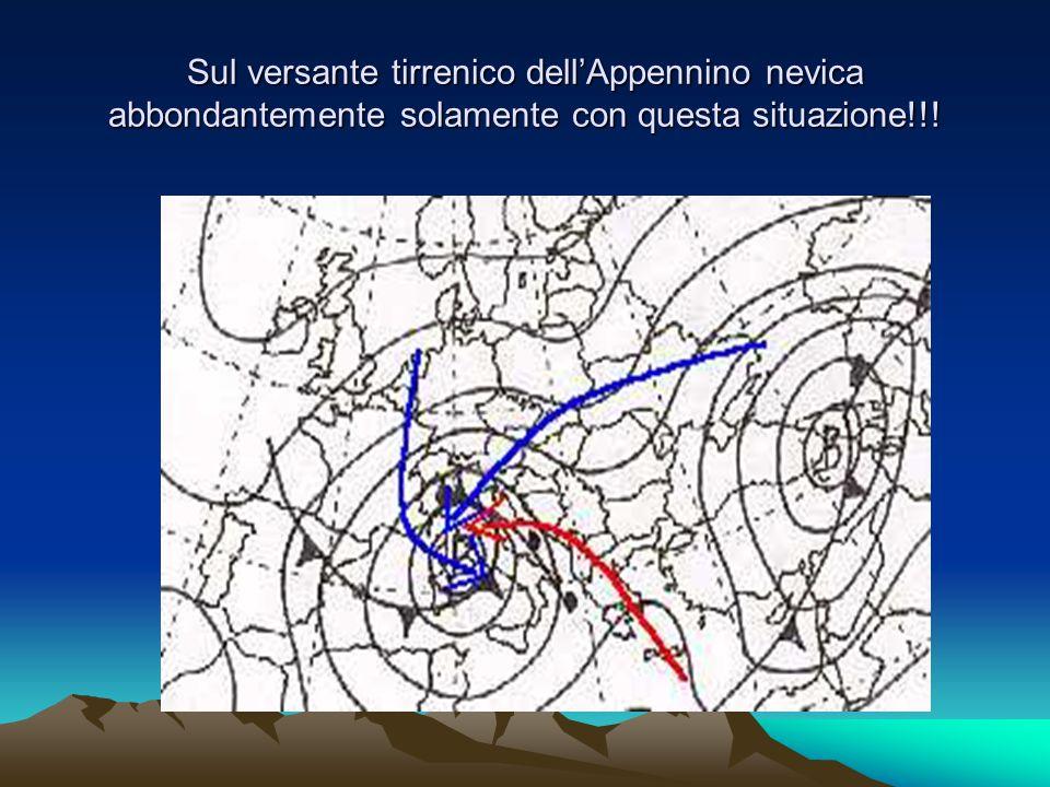 Situazioni sinottiche favorevoli a nevicate abbondanti sul versante Adriatico dell'Appennino 1) Anticiclone continentale sulla Russia o sui Balcani.