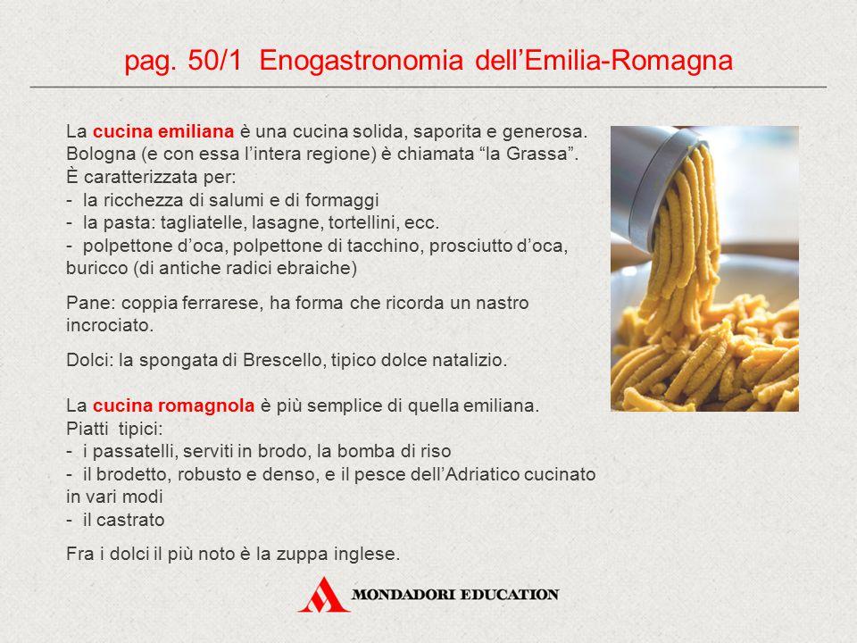 """La cucina emiliana è una cucina solida, saporita e generosa. Bologna (e con essa l'intera regione) è chiamata """"la Grassa"""". È caratterizzata per: - la"""