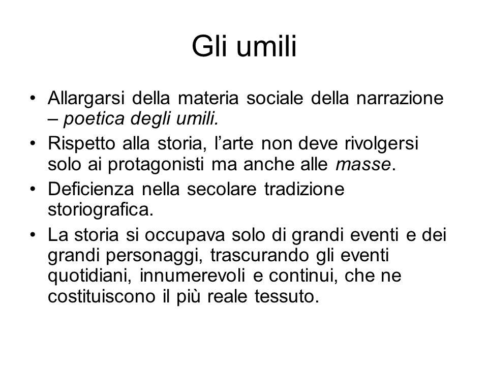 D altro canto le scelte espressive e narrative di Manzoni tendevano più al realismo, fino dal lessico descrittivo dell incipit.