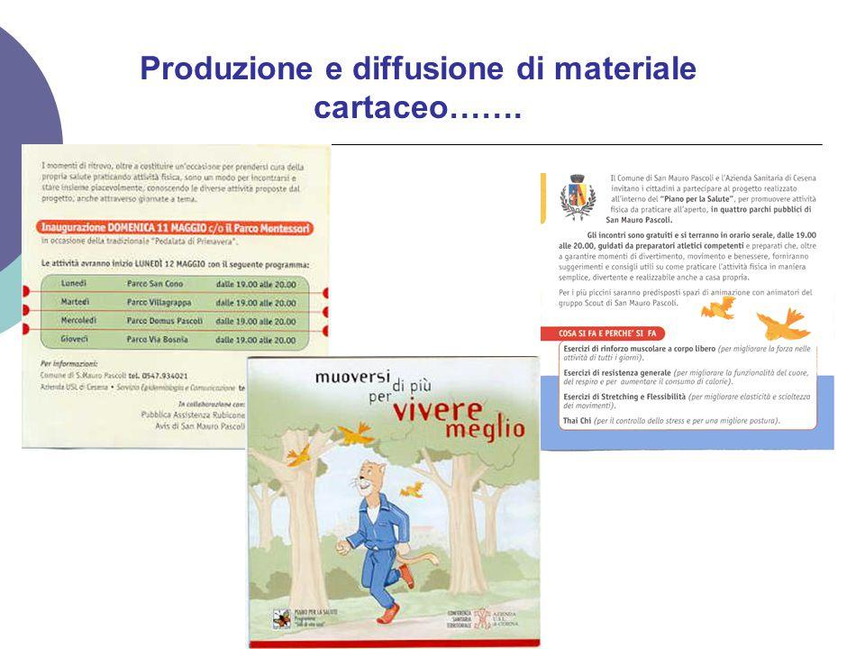 Produzione e diffusione di materiale cartaceo…….