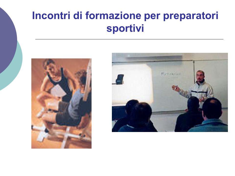 Incontri di formazione per preparatori sportivi