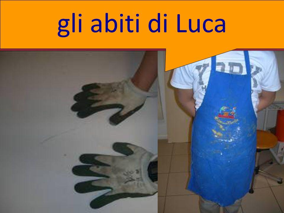 . gli abiti di Luca