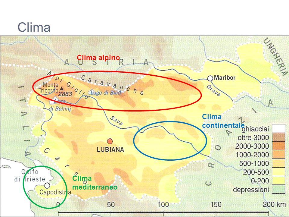 Clima Clima alpino Clima mediterraneo Clima continentale
