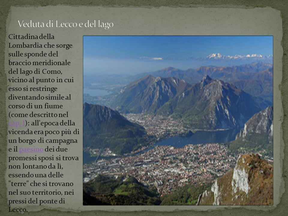 Cittadina della Lombardia che sorge sulle sponde del braccio meridionale del lago di Como, vicino al punto in cui esso si restringe diventando simile al corso di un fiume (come descritto nel cap.