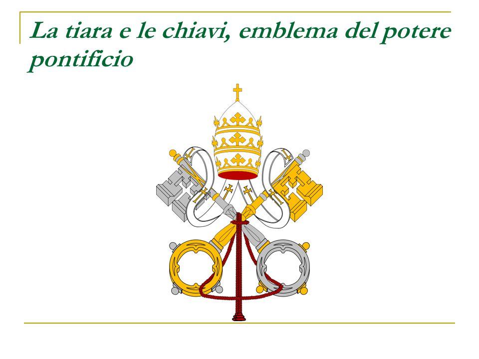 La tiara e le chiavi, emblema del potere pontificio