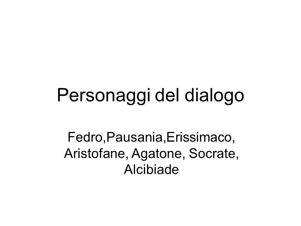 Discorso di Fedro Seguace della retorica contemporanea Assenza di una genealogia di Eros.