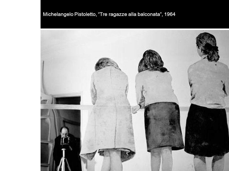 """Michelangelo Pistoletto, """"Tre ragazze alla balconata"""", 1964"""