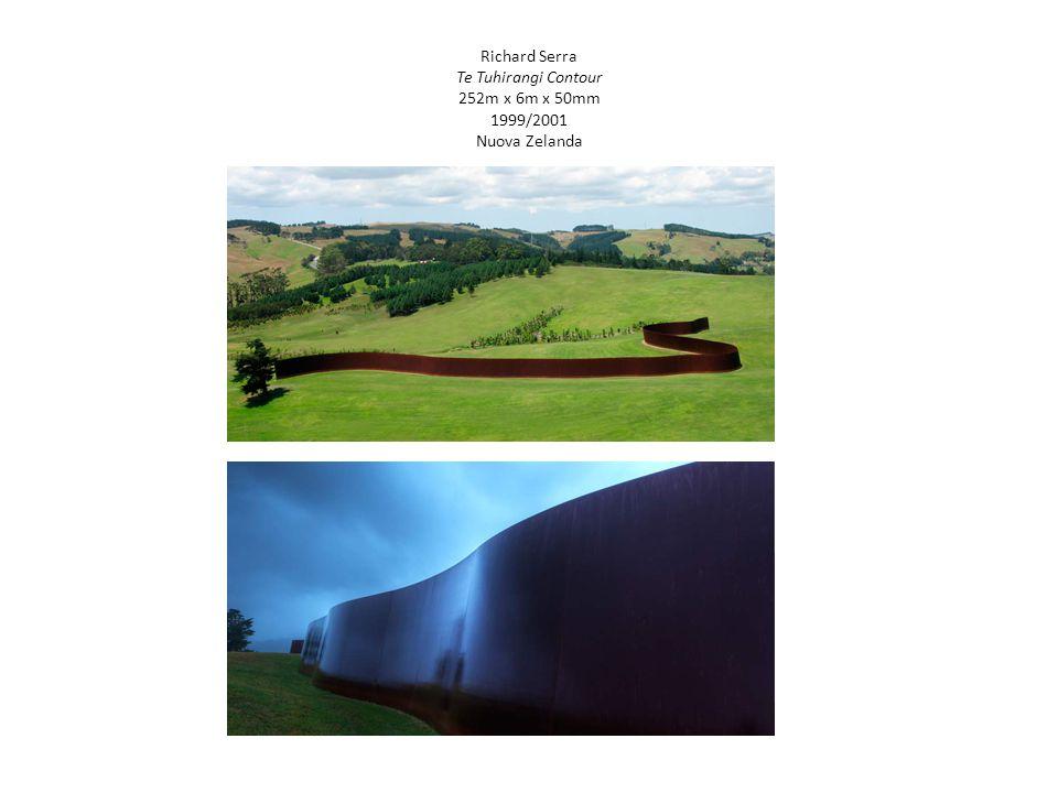 Richard Serra Te Tuhirangi Contour 252m x 6m x 50mm 1999/2001 Nuova Zelanda