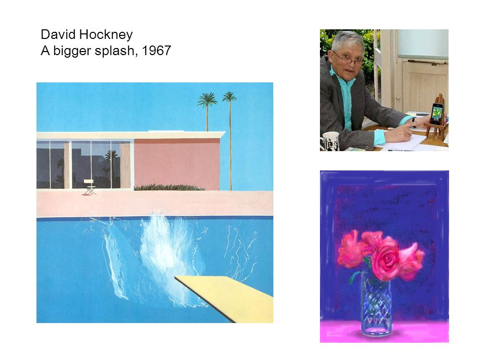 David Hockney A bigger splash, 1967