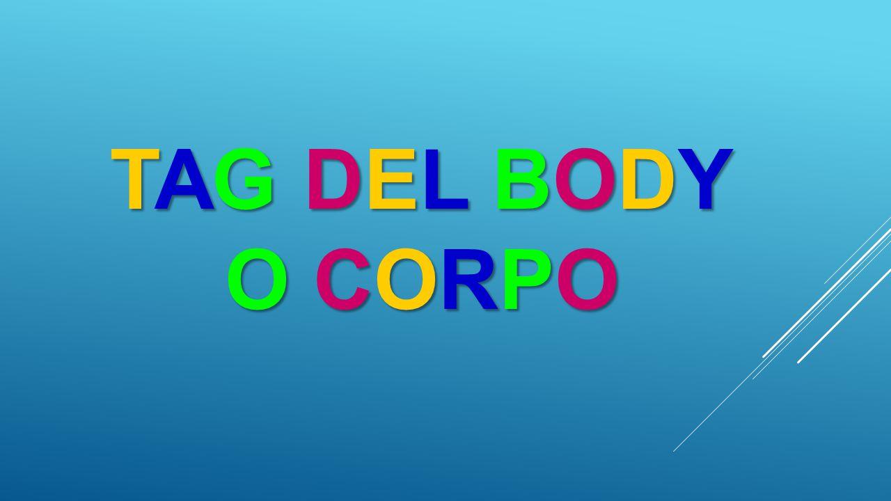 <HTML>-------------------------------------<HEAD><TITLE> Titolo della pagina web </TITLE></HEAD>--------------------------------------<BODY>….