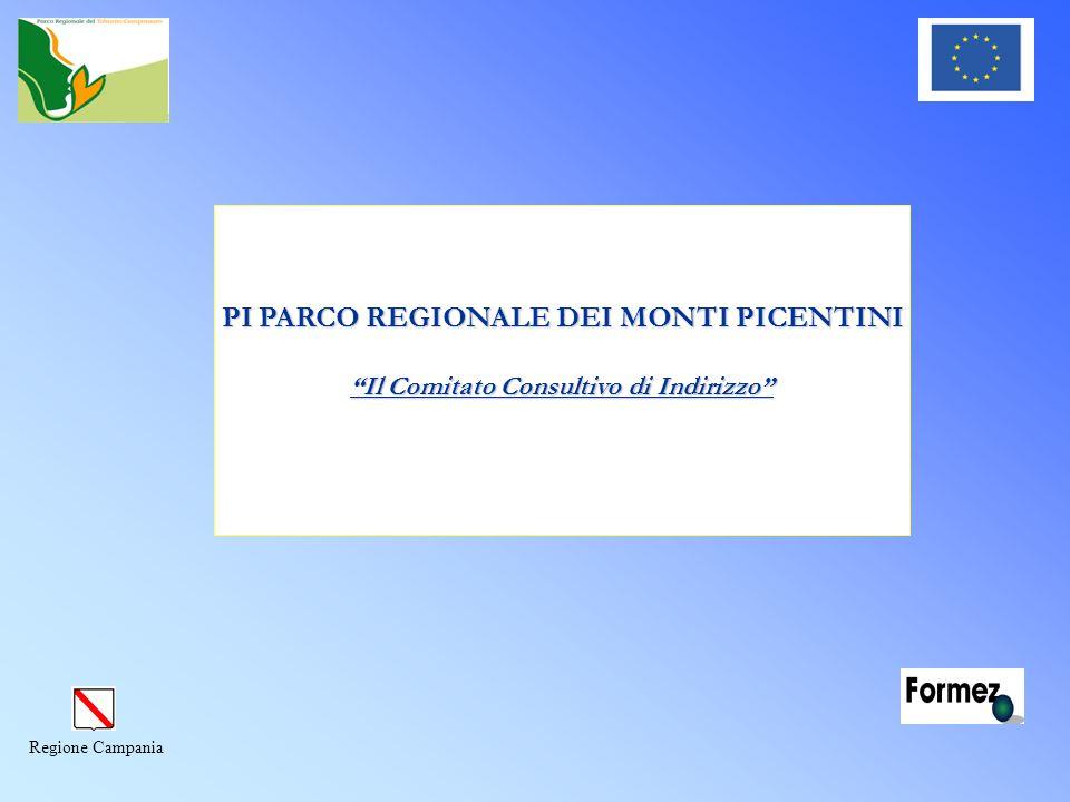 Regione Campania PI PARCO REGIONALE DEI MONTI PICENTINI Il Comitato Consultivo di Indirizzo