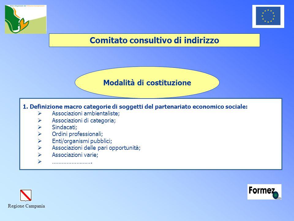 Regione Campania Comitato consultivo di indirizzo 1.