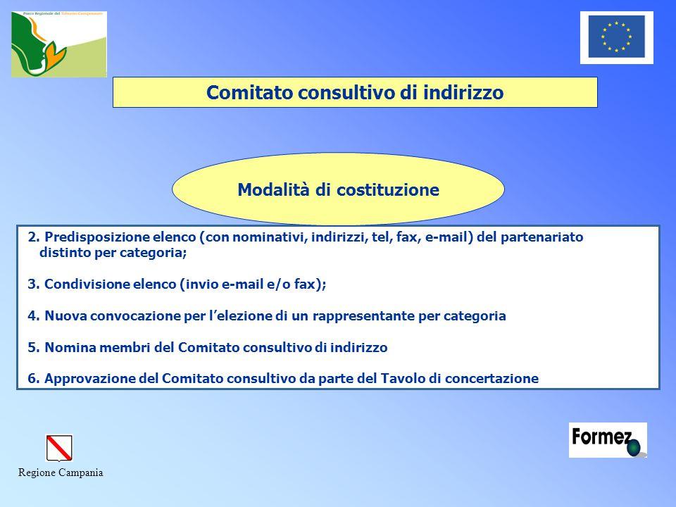Regione Campania Comitato consultivo di indirizzo 2.