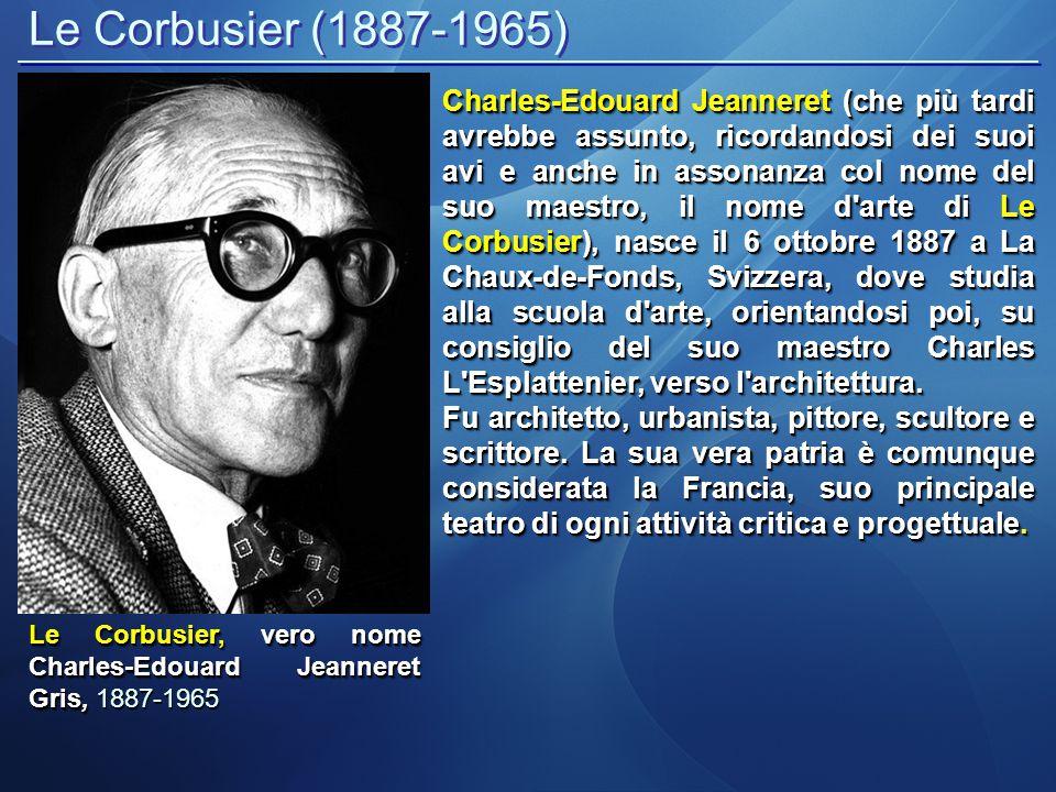 Le Corbusier (1887-1965) LA CHAISE LONGUE Da non trascurare anche la sua produzione non strettamente architettonica, ma più legata al design.