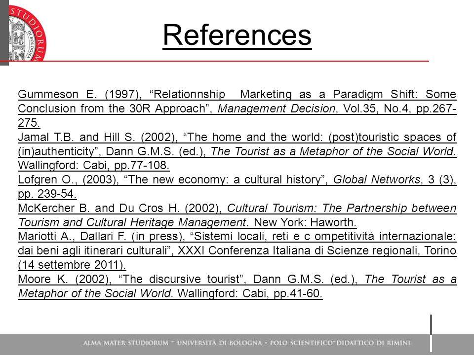 References Gummeson E.