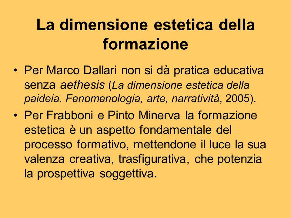 La dimensione estetica della formazione Per Marco Dallari non si dà pratica educativa senza aethesis (La dimensione estetica della paideia. Fenomenolo