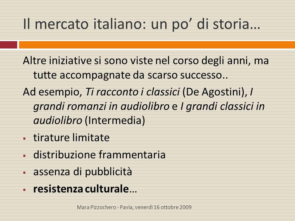 Il mercato italiano: un po' di storia… Altre iniziative si sono viste nel corso degli anni, ma tutte accompagnate da scarso successo.. Ad esempio, Ti