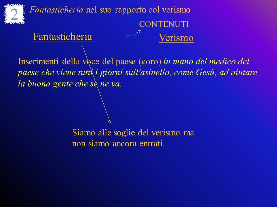 Fantasticheria: 4 sequenze 1.Preludio.Si apre col discorso diretto Una volta….