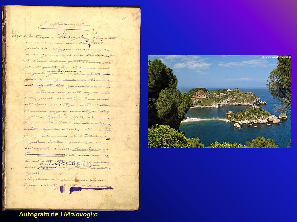 Autografo de I Malavoglia