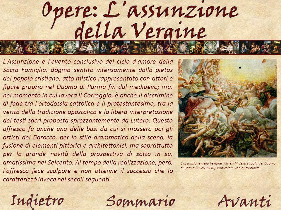 L assunzione della Vergine.Affreschi della cupola dei Duomo di Parma (1526-1530).