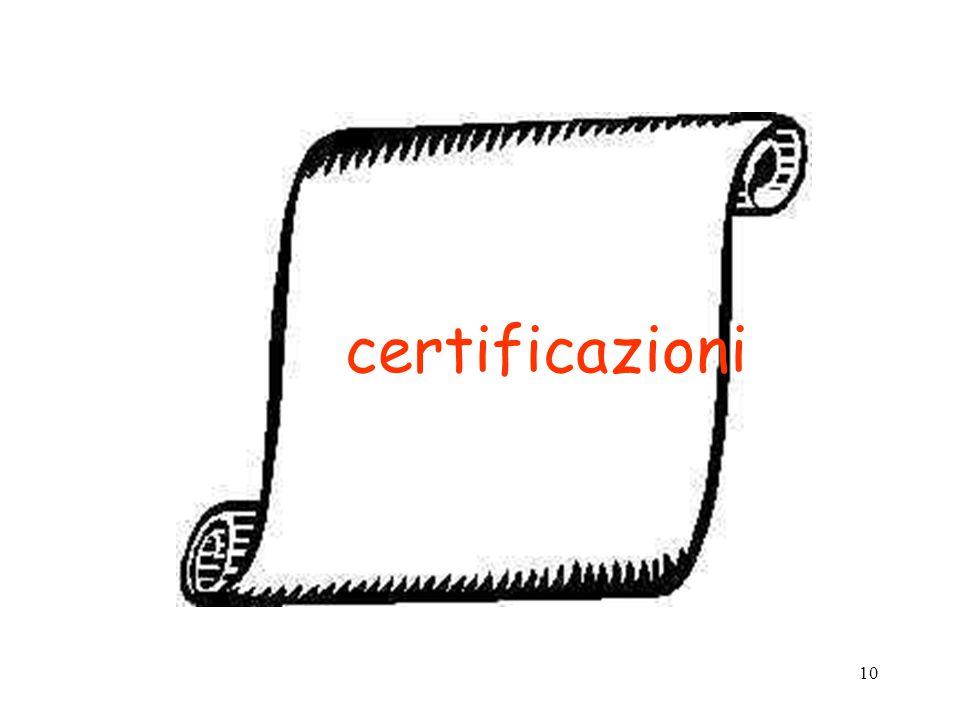 10 certificazioni