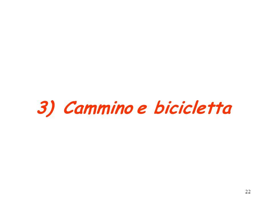 22 3)Cammino e bicicletta