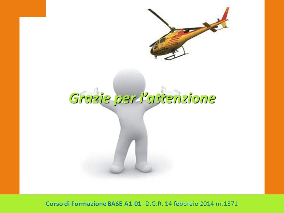 Grazie per l'attenzione Corso di Formazione BASE A1-01- D.G.R. 14 febbraio 2014 nr.1371