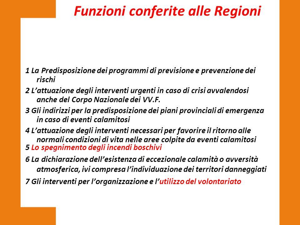 1 La Predisposizione dei programmi di previsione e prevenzione dei rischi 2 L'attuazione degli interventi urgenti in caso di crisi avvalendosi anche d